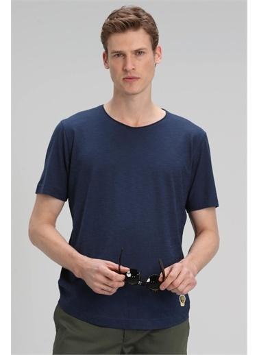 Lufian Junya Modern Grafik T- Shirt Haki Lacivert